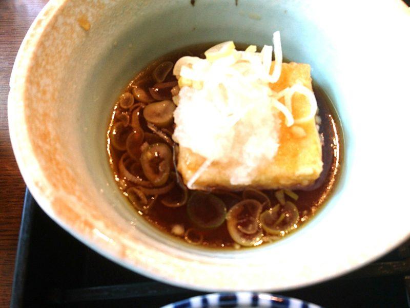 沖縄市胡屋割烹末広の揚げ出し豆腐