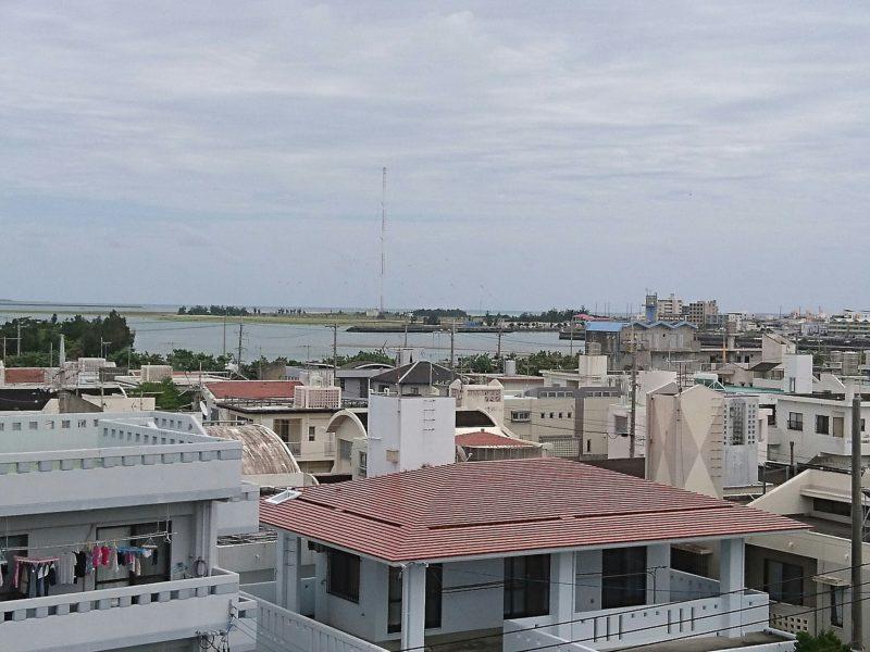 沖縄市海邦マンタ公園からの景色