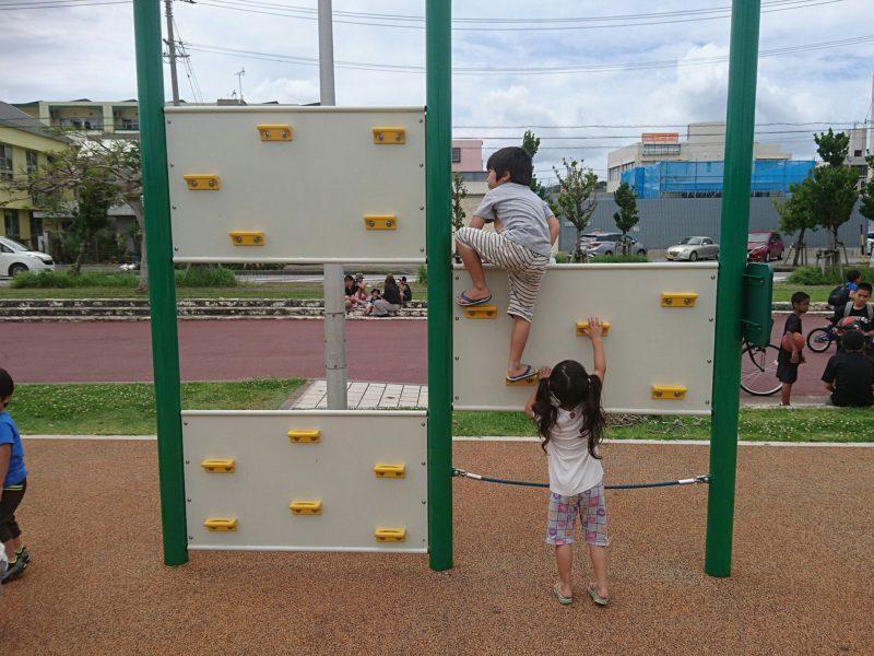 沖縄市海邦マンタ公園のフィットネス器具
