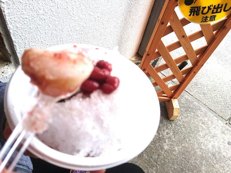 沖縄市高原パーラーうさぎのぜんざい