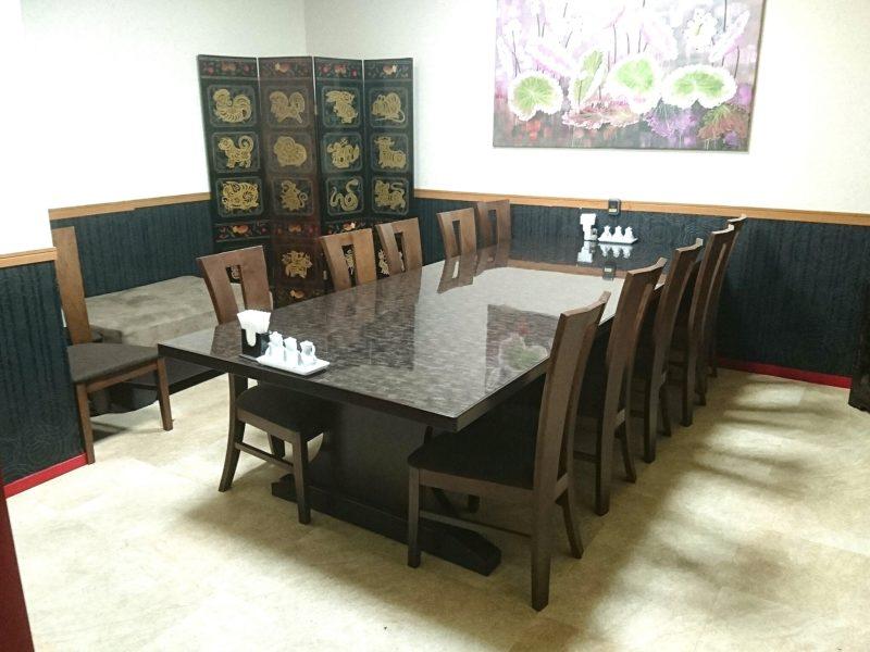沖縄市中華料理義龍イーロンの個室