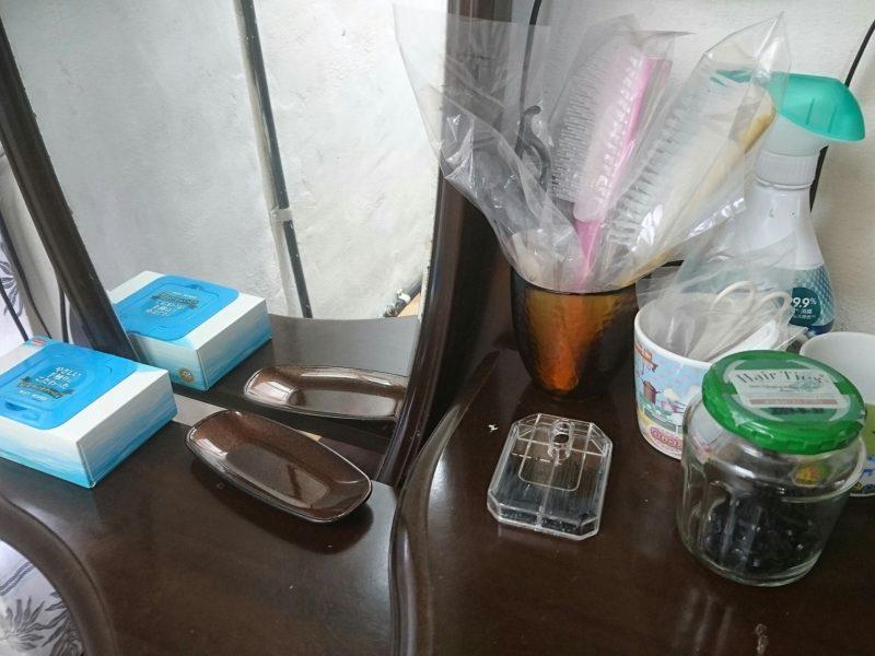 沖縄市ごーやー荘の洗面コーナー備品