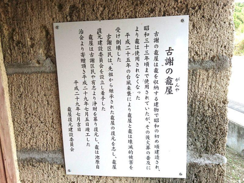 沖縄市古謝のガンヤー説明図