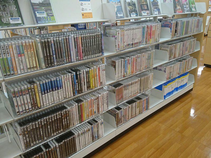 沖縄市中央沖縄市立図書館視聴覚コーナーのDVD