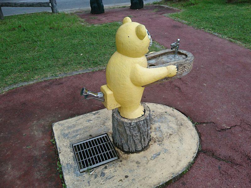 沖縄市諸見里コザ運動公園アスレチック広場の水道