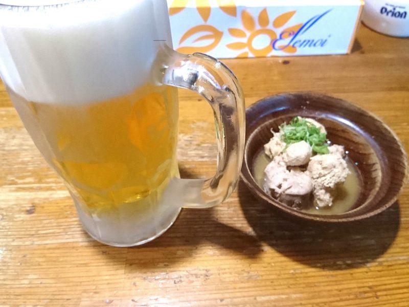 沖縄市室川居酒屋善のビール