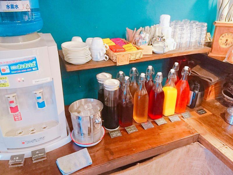 沖縄市バードランドカフェのドリンクバー