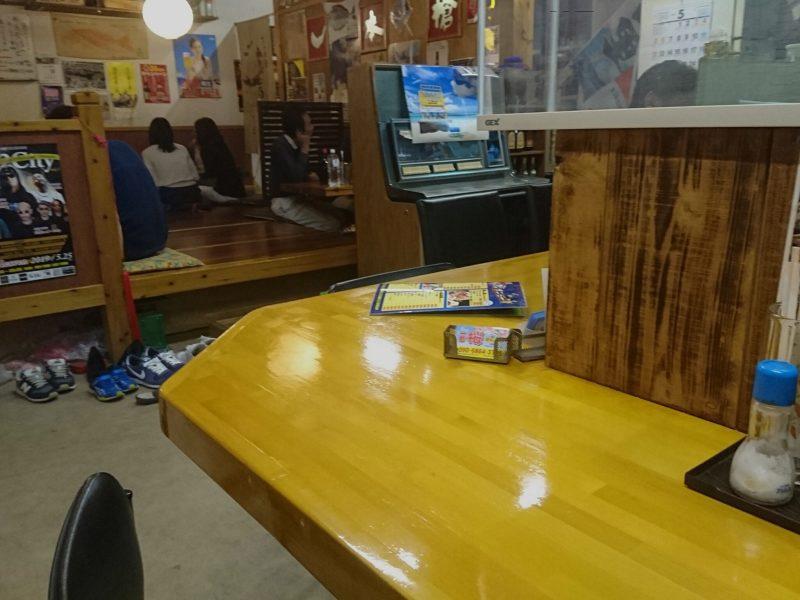 沖縄市中央居酒屋一本槍のカウンター