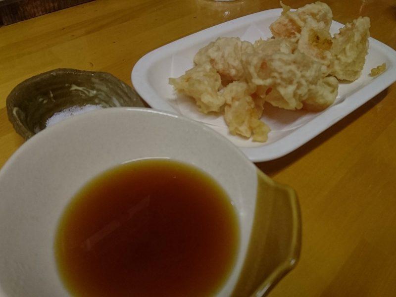 沖縄市中央居酒屋一本槍のトマト天ぷら