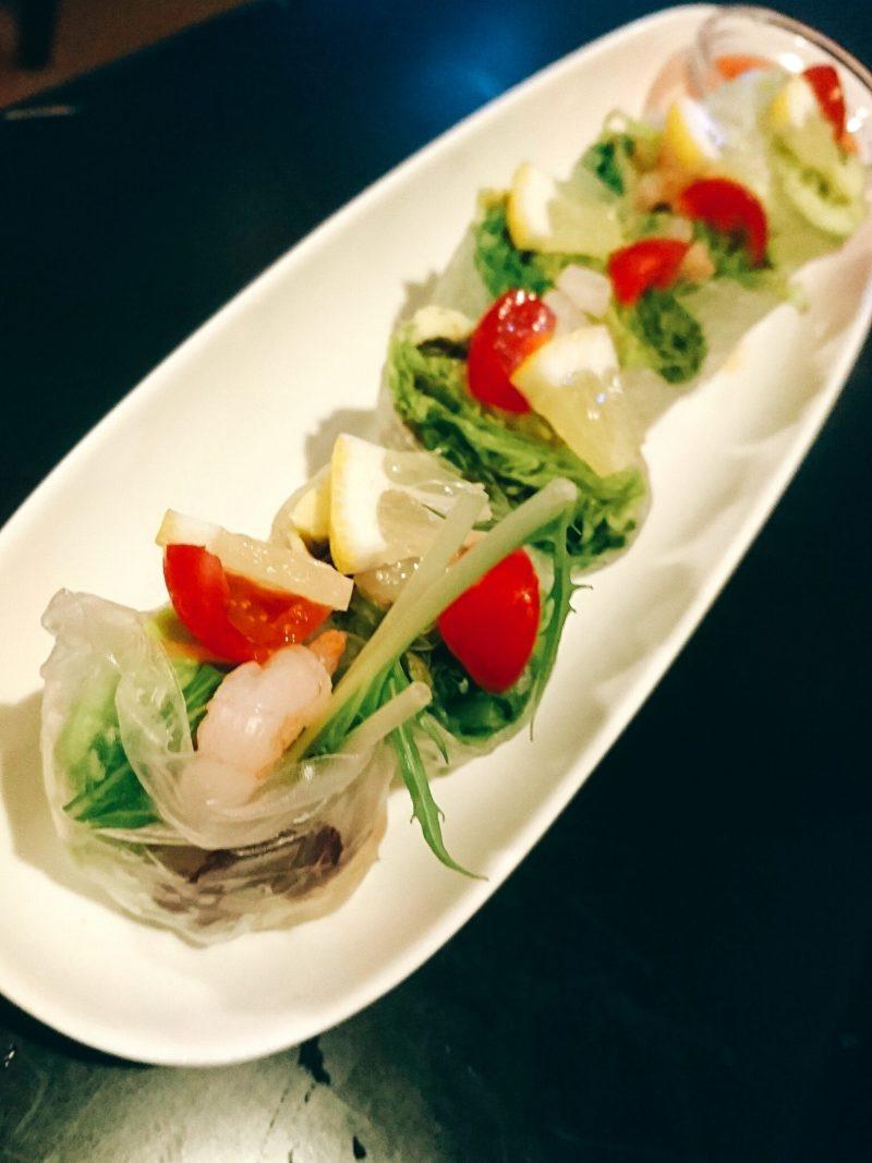 沖縄市胡屋肉バル絆の生春巻き