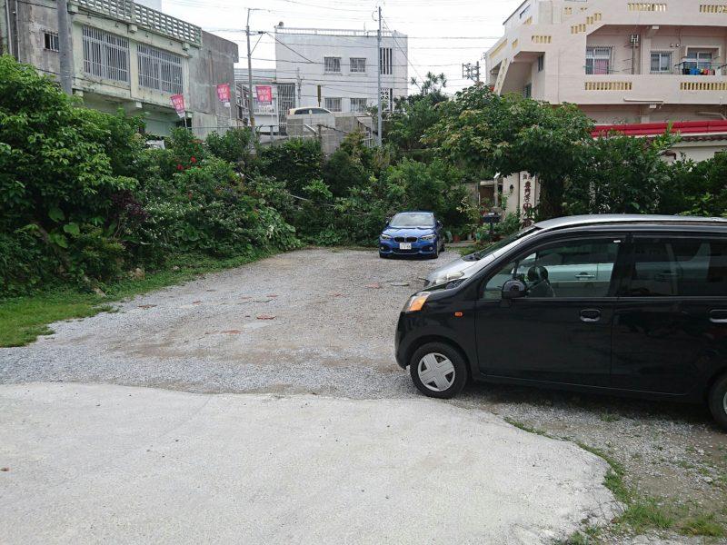 沖縄市原点の駐車場