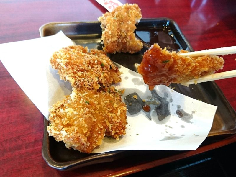 ラーメンはっちゃく沖縄市山内の鶏かつ