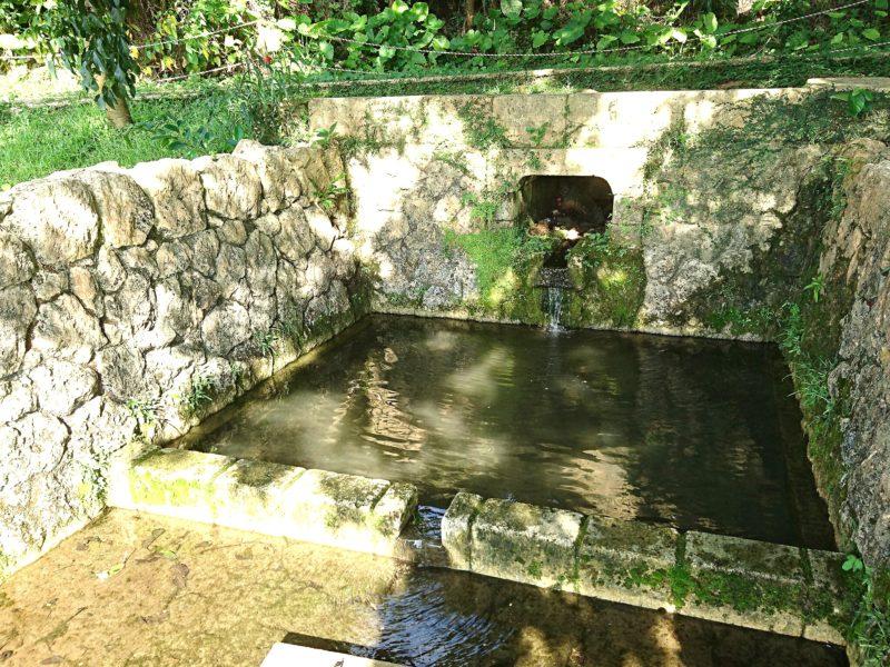 沖縄市知花白川街区公園の湧き水