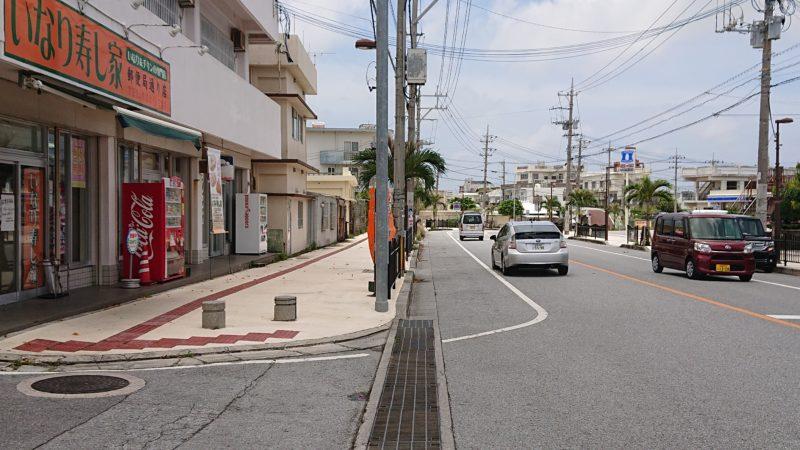沖縄市いなり寿し家駐車場