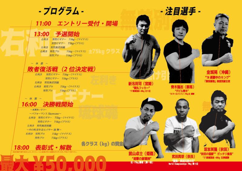 沖縄市長杯アームレスリングオープントーナメント