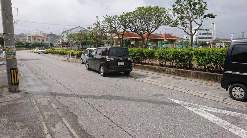 沖縄市海邦町パーラーストロベリーアイスの駐車場