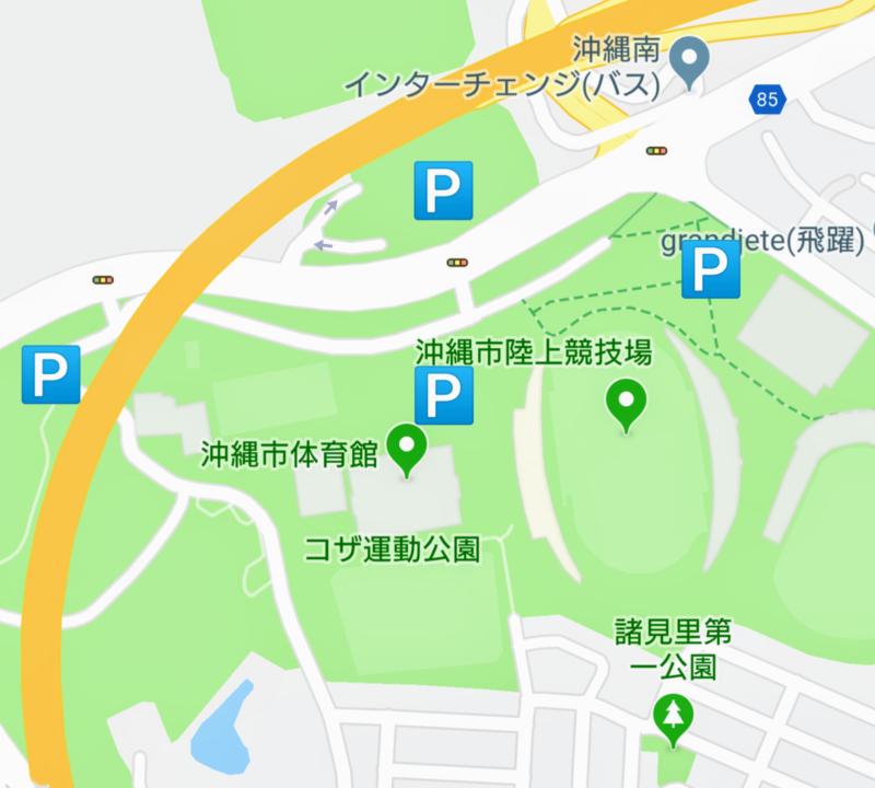 沖縄市サイエンスフェスタ駐車場