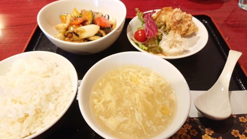 沖縄市中華料理義龍イーロンの一品セット