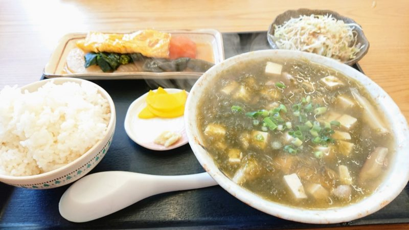 沖縄市池原和泉食堂のあーさ汁