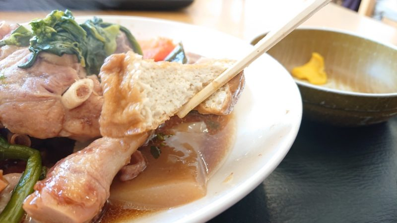 沖縄市池原和泉食堂の島豆腐