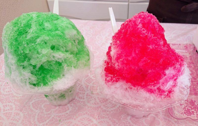 沖縄市のかき氷、ぜんざい