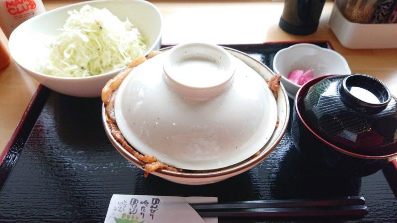 沖縄市嘉間良帯広豚丼炭火焼とんたんの豚丼