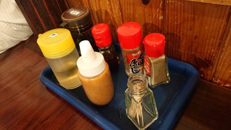鶏力(トリッキー)沖縄市上地中の町の卓上調味料