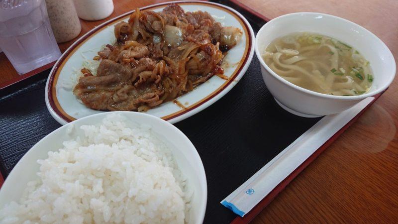 沖縄市胡屋味ごのみの豚肉しょうが焼き