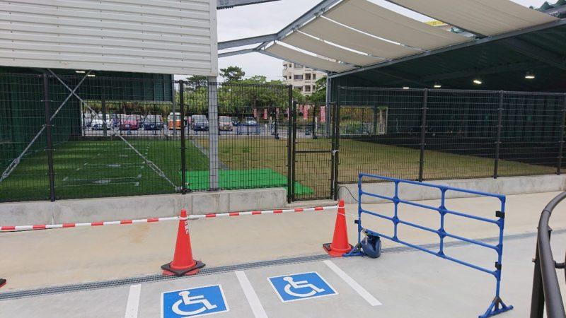広島カープ沖縄キャンプ投球練習場