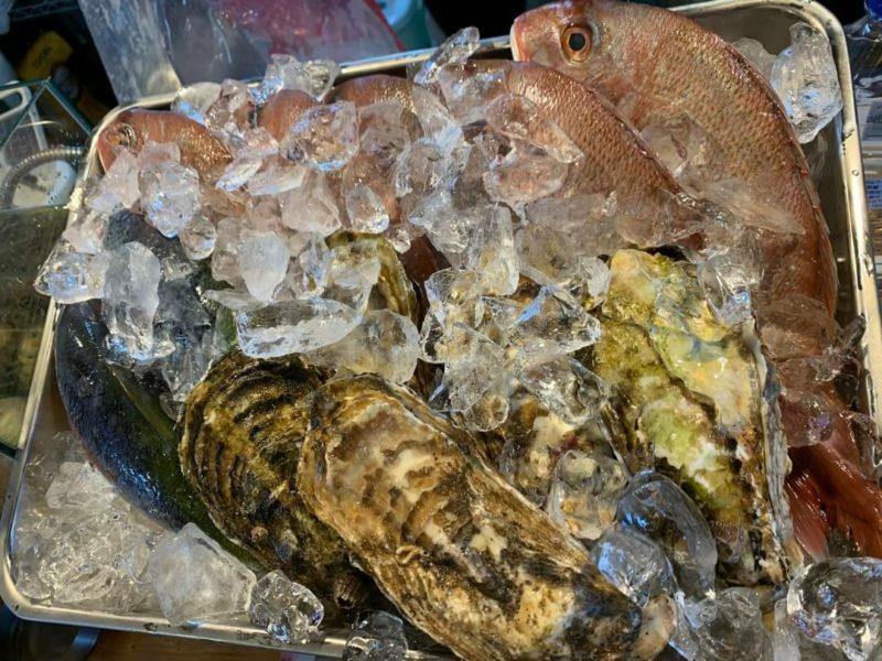 沖縄市高原酒と肴ゆいまぁーるの鮮魚、カキ