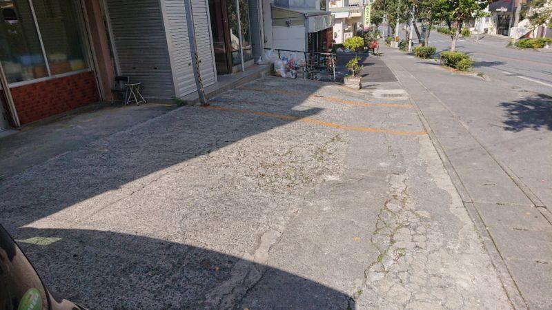 沖縄市安慶田笑福そばの駐車場