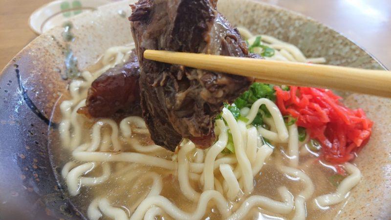 沖縄市安慶田笑福そばの軟骨ソーキそばの軟骨ソーキ