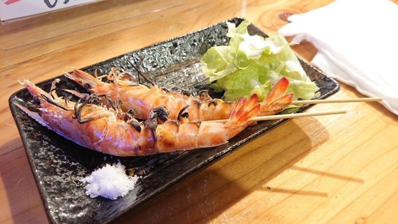 沖縄市高原酒と肴ゆいまぁーるの車エビ