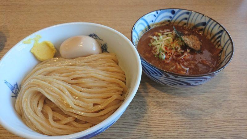 沖縄市知花つけ麺ジンベエの特製濃厚鶏豚つけ麺
