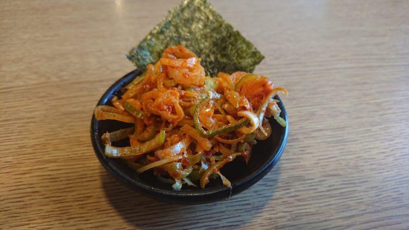 沖縄市知花つけ麺ジンベエの特製辛ねぎ