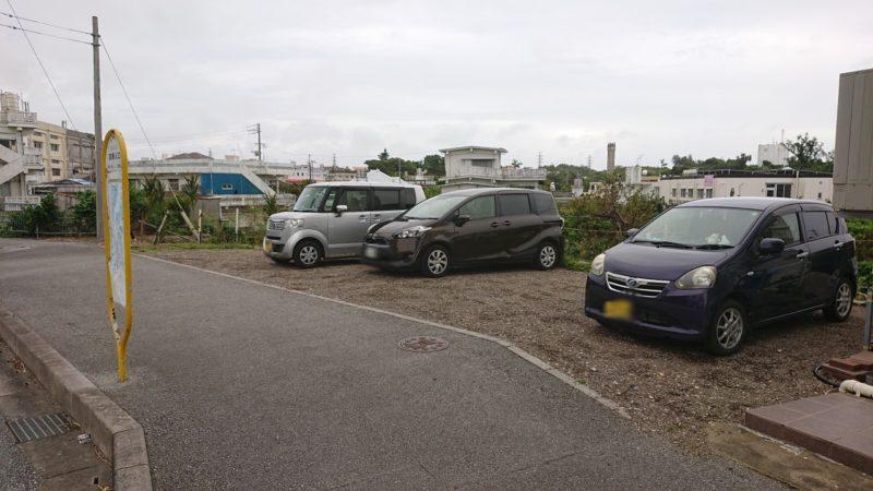 ぱん屋YUMENOARU(ゆめのある)沖縄市南桃原の駐車場