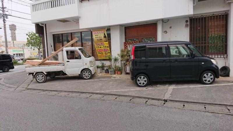 うちなあ家沖縄市泡瀬の駐車場
