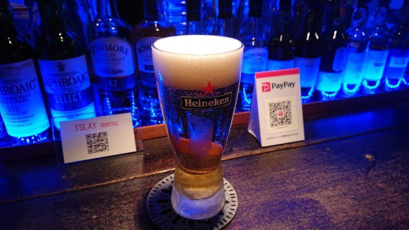 ショットバーアイラ沖縄市銀天街のビール