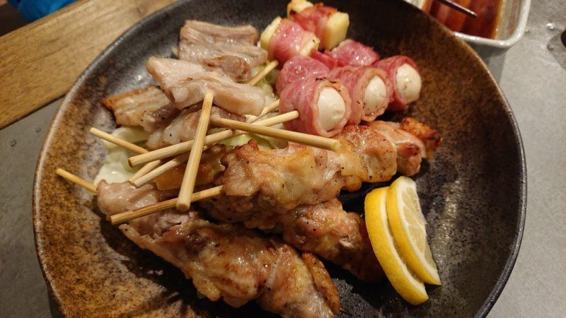 路地裏キッチンよねまる沖縄市中の町の串盛り