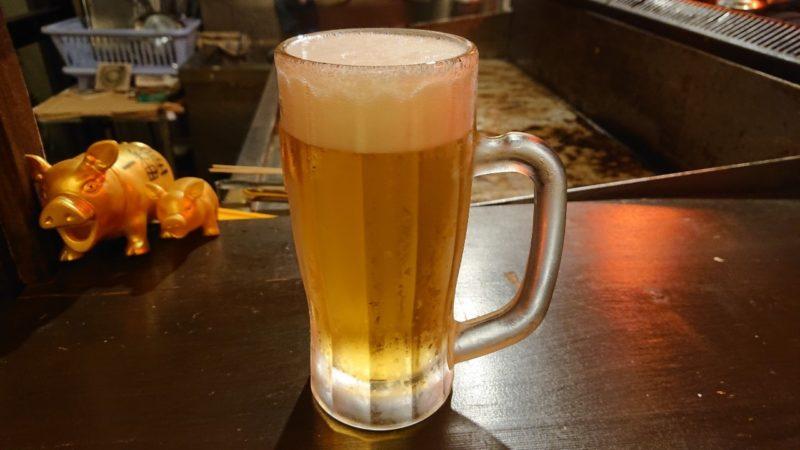 ホルモン一番屋沖縄市住吉のビール