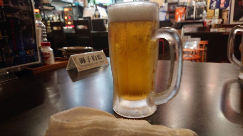 大衆居酒屋龍沖縄市中の町のビール