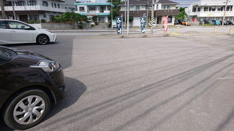 慶山うどん沖縄市松本の駐車場