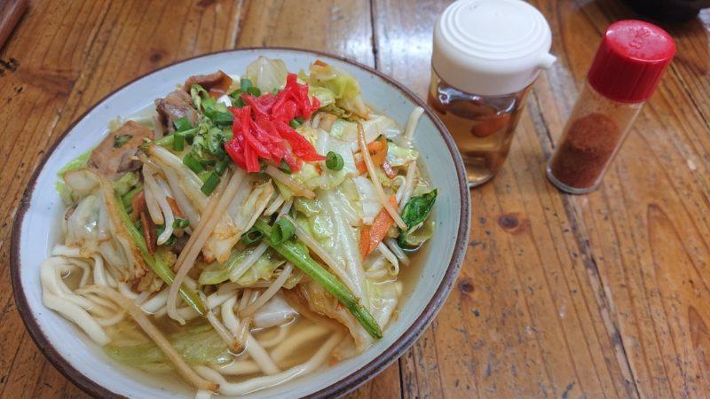 沖縄市照屋お食事処一茶の野菜そば