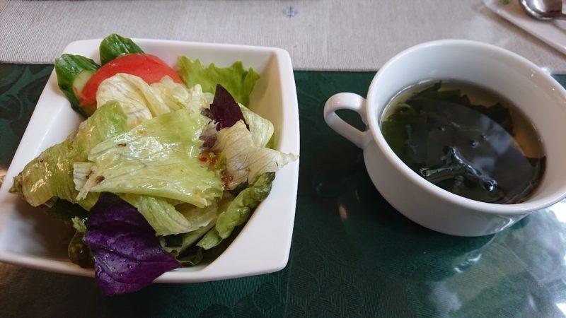 カフェがじゅまるの木沖縄市比屋根のサラダ、スープ