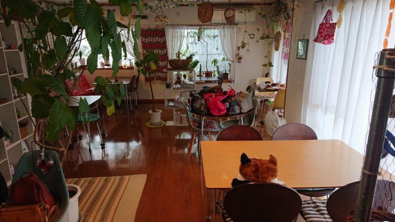 cafeめろん堂沖縄市海邦の店内