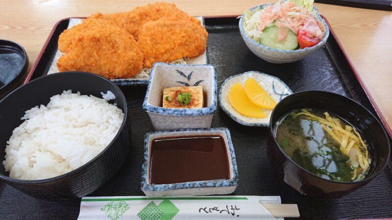 お食事処味広沖縄市泡瀬のとんかつ定食