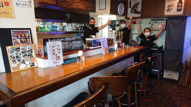居酒屋ダイニングKotobuki(ことぶき)沖縄市大里のカウンター
