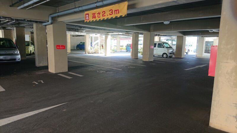 デイゴホテルレストランうりずん沖縄市中央の駐車場