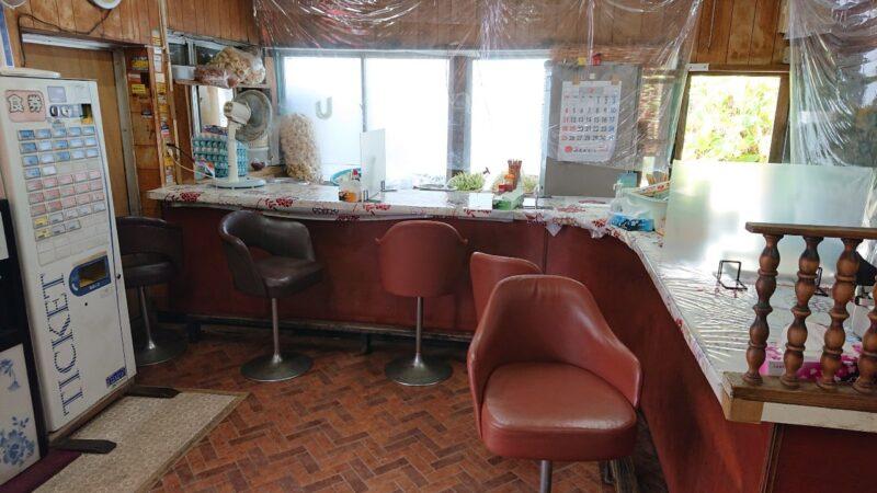 丸長食堂(まるながしょくどう)沖縄市美里のカウンター