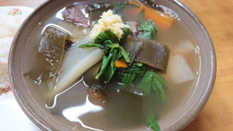 丸長食堂(まるながしょくどう)沖縄市美里の馬汁(ばじる)
